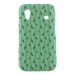 Seamless Lines And Feathers Pattern Samsung Galaxy Ace S5830 Hardshell Case