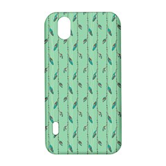 Seamless Lines And Feathers Pattern LG Optimus P970