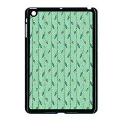 Seamless Lines And Feathers Pattern Apple iPad Mini Case (Black)