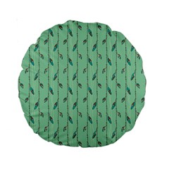 Seamless Lines And Feathers Pattern Standard 15  Premium Round Cushions
