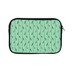 Seamless Lines And Feathers Pattern Apple iPad Mini Zipper Cases