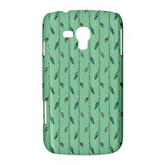 Seamless Lines And Feathers Pattern Samsung Galaxy Duos I8262 Hardshell Case