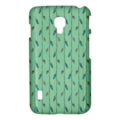 Seamless Lines And Feathers Pattern LG Optimus L7 II