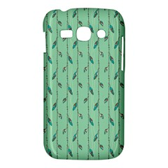 Seamless Lines And Feathers Pattern Samsung Galaxy Ace 3 S7272 Hardshell Case