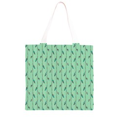 Seamless Lines And Feathers Pattern Grocery Light Tote Bag