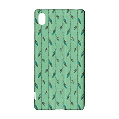 Seamless Lines And Feathers Pattern Sony Xperia Z3+