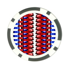 The Patriotic Flag Poker Chip Card Guards