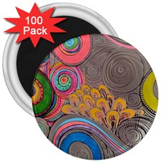 Rainbow Passion 3  Magnets (100 Pack)