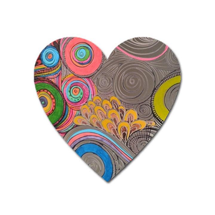 Rainbow Passion Heart Magnet