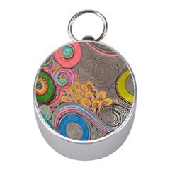 Rainbow Passion Mini Silver Compasses