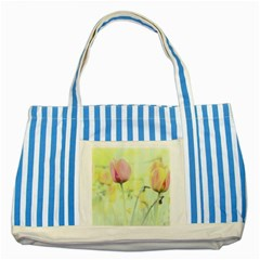 Softness Of Spring Striped Blue Tote Bag