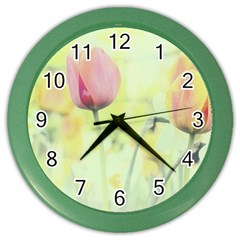Softness Of Spring Color Wall Clocks