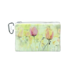 Softness Of Spring Canvas Cosmetic Bag (S)