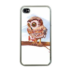 Owl Apple iPhone 4 Case (Clear)