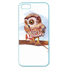 Owl Apple Seamless iPhone 5 Case (Color)