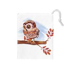 Owl Drawstring Pouches (Medium)