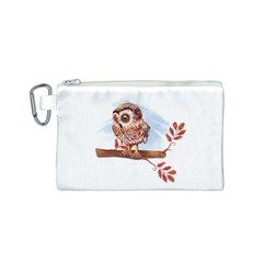 Owl Canvas Cosmetic Bag (S)