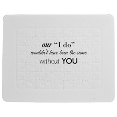 Wedding Favor/Thank You Jigsaw Puzzle Photo Stand (Rectangular)