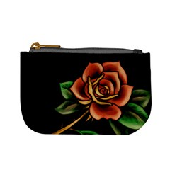 Rose Tattoo Coin Change Purse