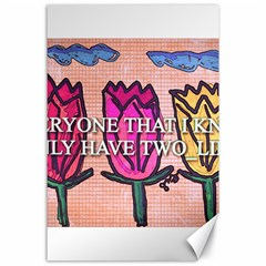 Two Lips   Tulips Canvas 24  X 36