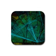 Weathered Rubber Square Coaster (4 Pack)