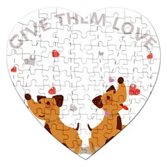 Give Them Love Jigsaw Puzzle (Heart)