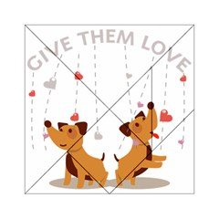 Give Them Love Acrylic Tangram Puzzle (6  x 6 )