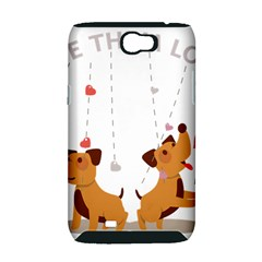 Give Them Love Samsung Galaxy Note 2 Hardshell Case (PC+Silicone)
