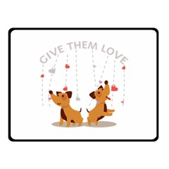 Give Them Love Double Sided Fleece Blanket (Small)