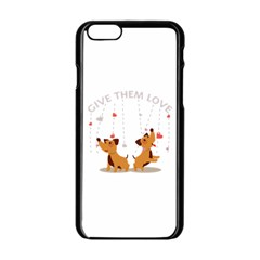 Give Them Love Apple iPhone 6/6S Black Enamel Case