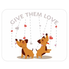 Give Them Love Double Sided Flano Blanket (Medium)