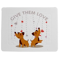 Give Them Love Jigsaw Puzzle Photo Stand (rectangular)