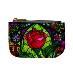 Stained Glass Rose Coin Change Purse Front