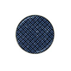 Woven2 Black Marble & Blue Marble Hat Clip Ball Marker (4 Pack)