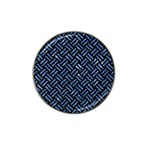 WOVEN2 BLACK MARBLE & BLUE MARBLE Hat Clip Ball Marker (4 pack) Front