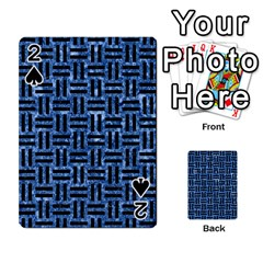 Woven1 Black Marble & Blue Marble (r) Playing Cards 54 Designs