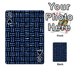 Woven1 Black Marble & Blue Marble Playing Cards 54 Designs