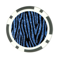 Skin4 Black Marble & Blue Marble (r) Poker Chip Card Guard (10 Pack)