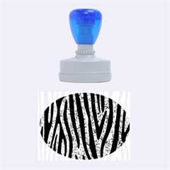 Skin4 Black Marble & Blue Marble Rubber Stamp Oval