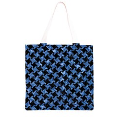 HTH2 BK-BL MARBLE Grocery Light Tote Bag