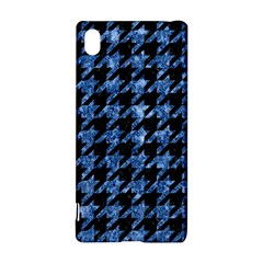 Houndstooth1 Black Marble & Blue Marble Sony Xperia Z3+ Hardshell Case