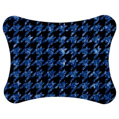 Houndstooth1 Black Marble & Blue Marble Jigsaw Puzzle Photo Stand (bow)