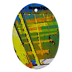 Pretty In Yellow Oval Ornament (two Sides)
