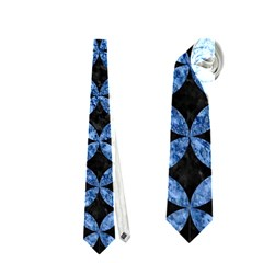 Circles3 Black Marble & Blue Marble Necktie (one Side)