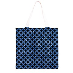 CIR3 BK-BL MARBLE Grocery Light Tote Bag