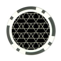 Star Of David   Poker Chip Card Guards (10 Pack)