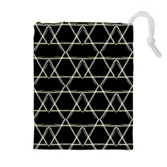 Star Of David   Drawstring Pouches (Extra Large)