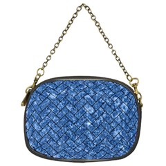 Brick2 Black Marble & Blue Marble (r) Chain Purse (two Sides)