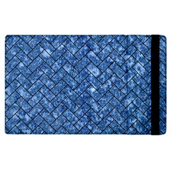 Brick2 Black Marble & Blue Marble (r) Apple Ipad 3/4 Flip Case