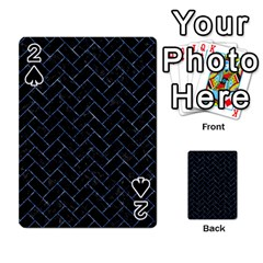 Brick2 Black Marble & Blue Marble Playing Cards 54 Designs
